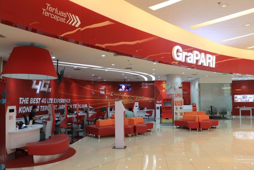 Gerai Provider Hadir di Pusat Perbelanjaan