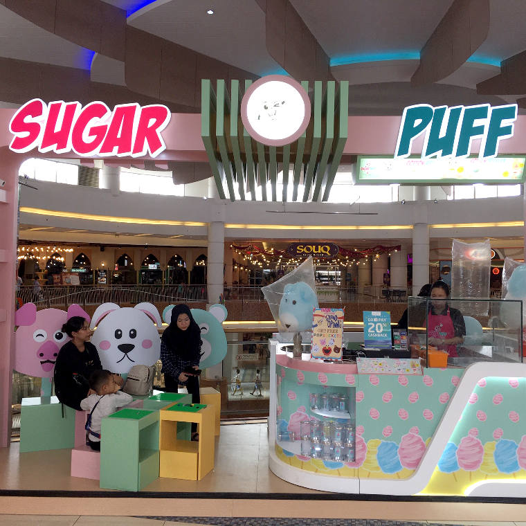 Cotton Candy Kekinian di Summarecon Mall Serpong