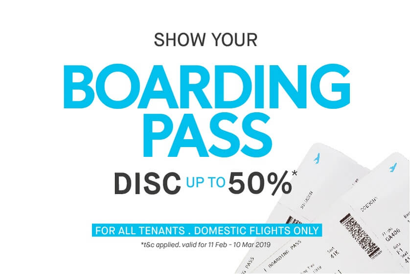 Get Discount by Showing Your Boarding Pass