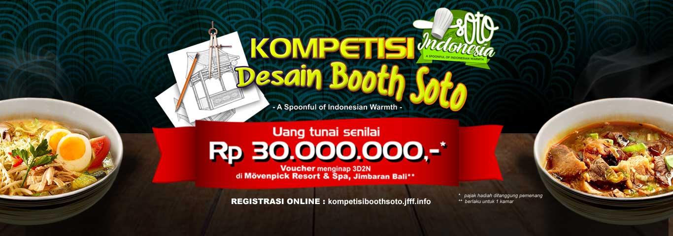 Kompetisi Desain Booth Soto Indonesia