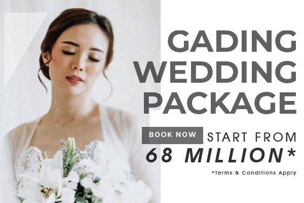 PROMO! Wedding Package IDR 68.000.000 nett