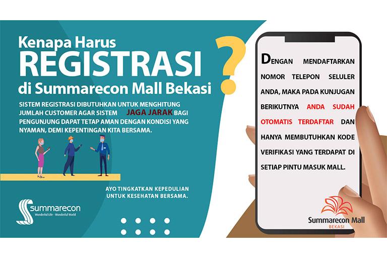 Registrasi di Summarecon Mall Bekasi