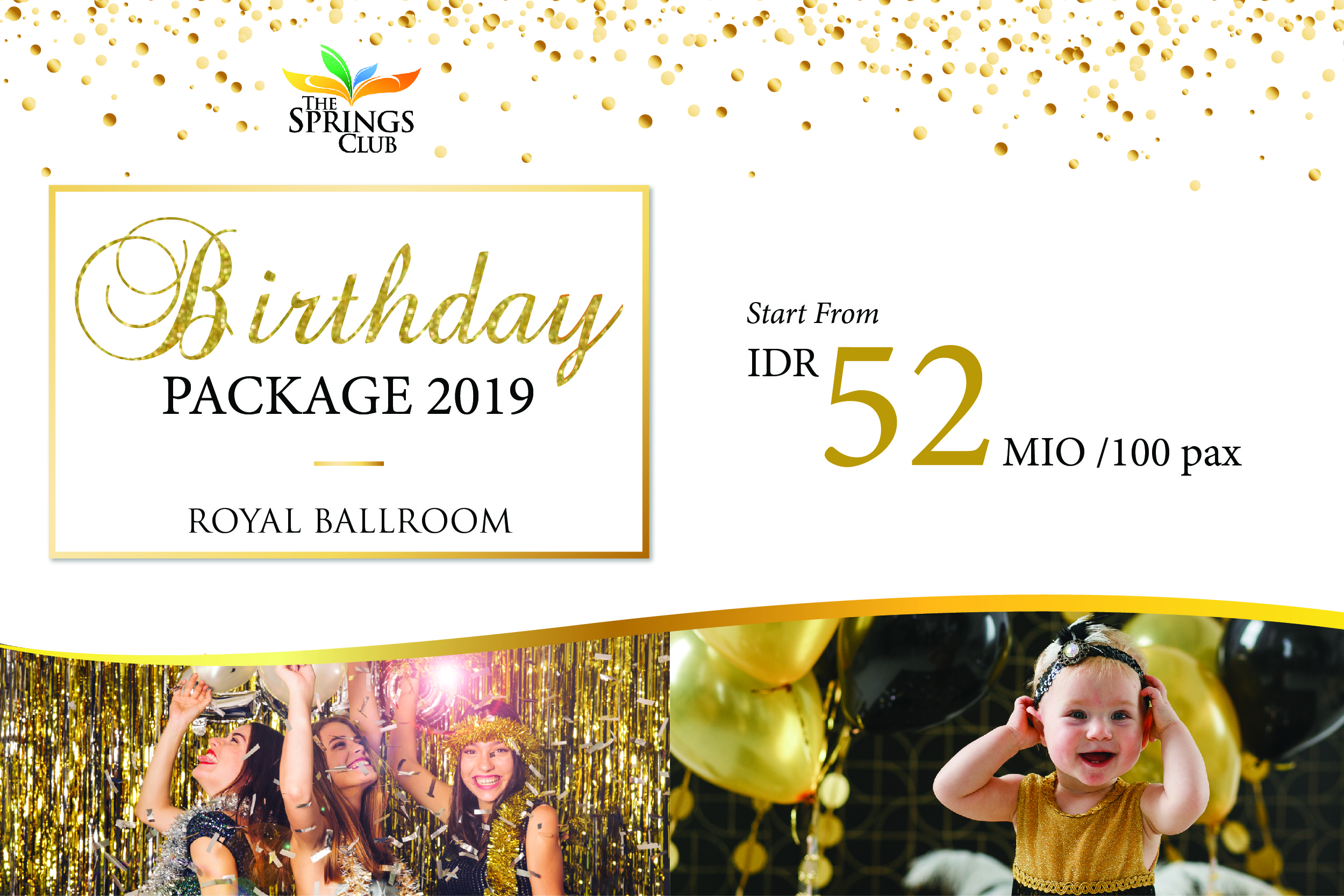 Royal Ballroom Birthday Package