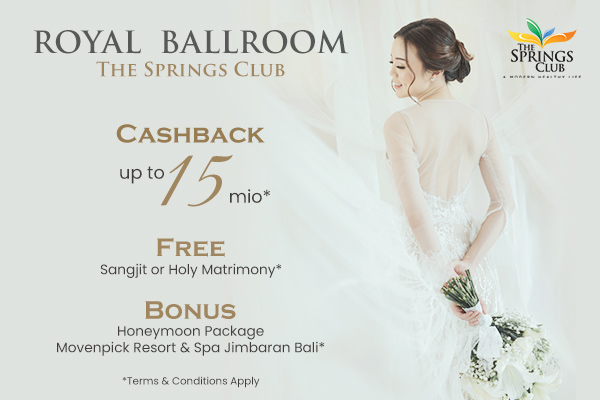 Royal Ballroom The Springs Cashback up to 15 mio