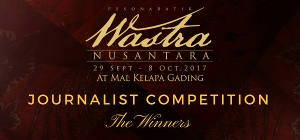 The Winners Journalist Competition Pesona Batik Wastra Nusantara