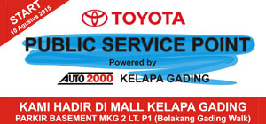Toyota Public Service Point Hadir di Mal Kelapa Gading
