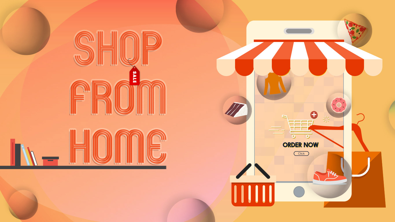 Banner Shop From Home
