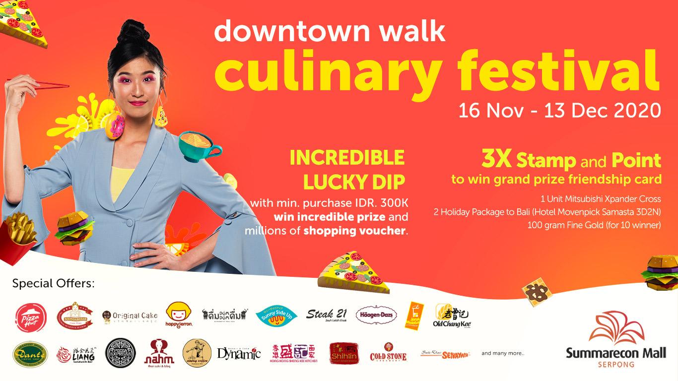 Downtown Walk Culinary Festival 2020
