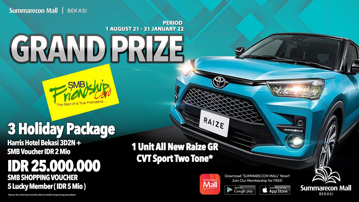 FriendShip Card Grand Prize Agustus 21 - Januari 2022