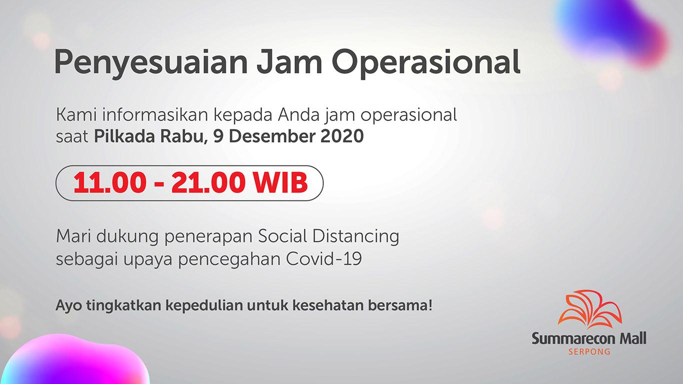 Jam Operasional Mall 9 Desember 2020