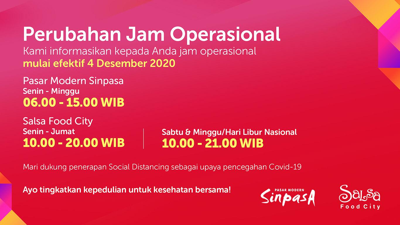 Jam Operasional Salsa & Sinpasa