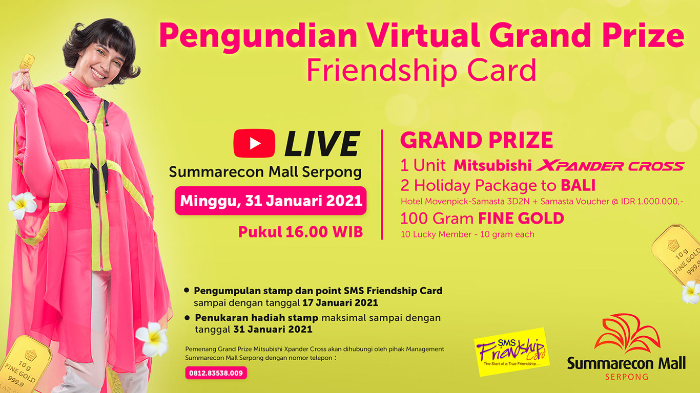 Pengundian Virtual Grand Prize Friendship Card 2020