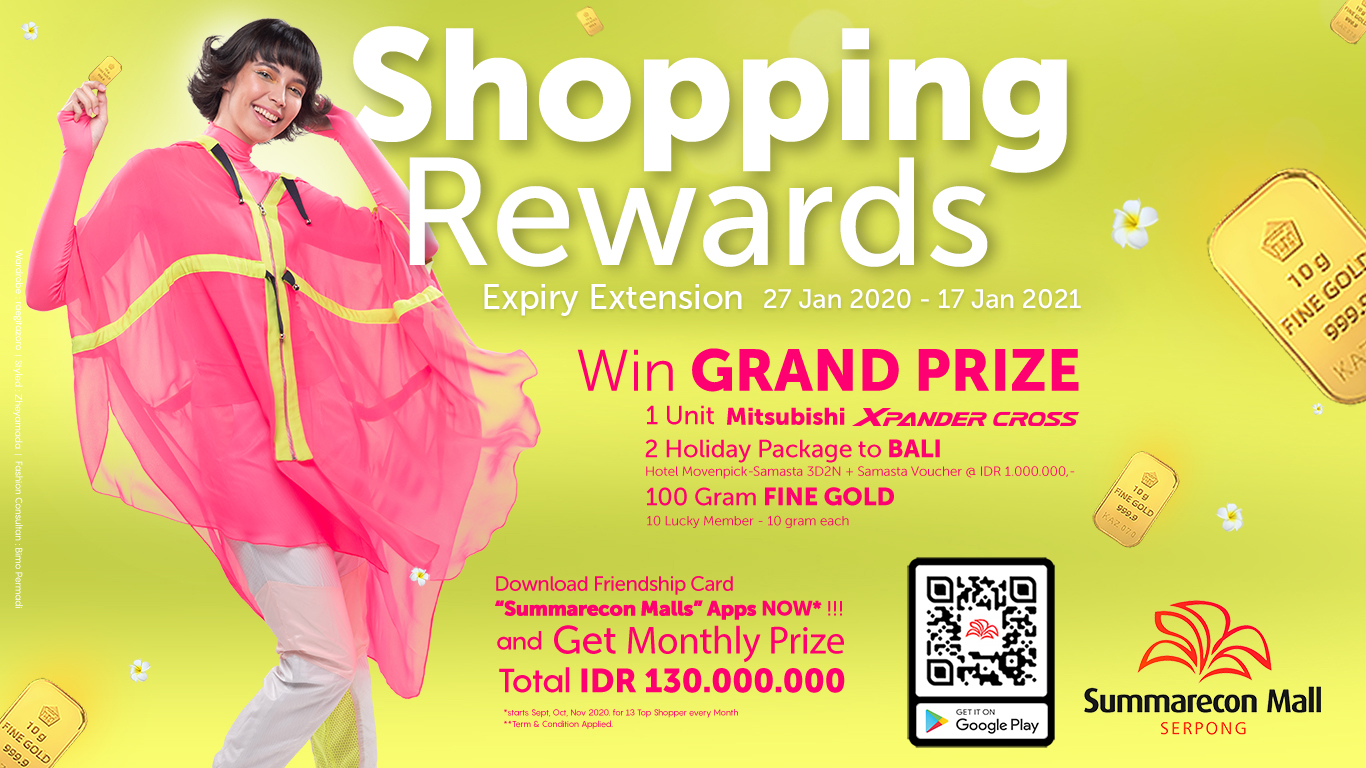 Shopping Rewards Expiry Extension 27 Jan 2020 - 17 Jan 2021