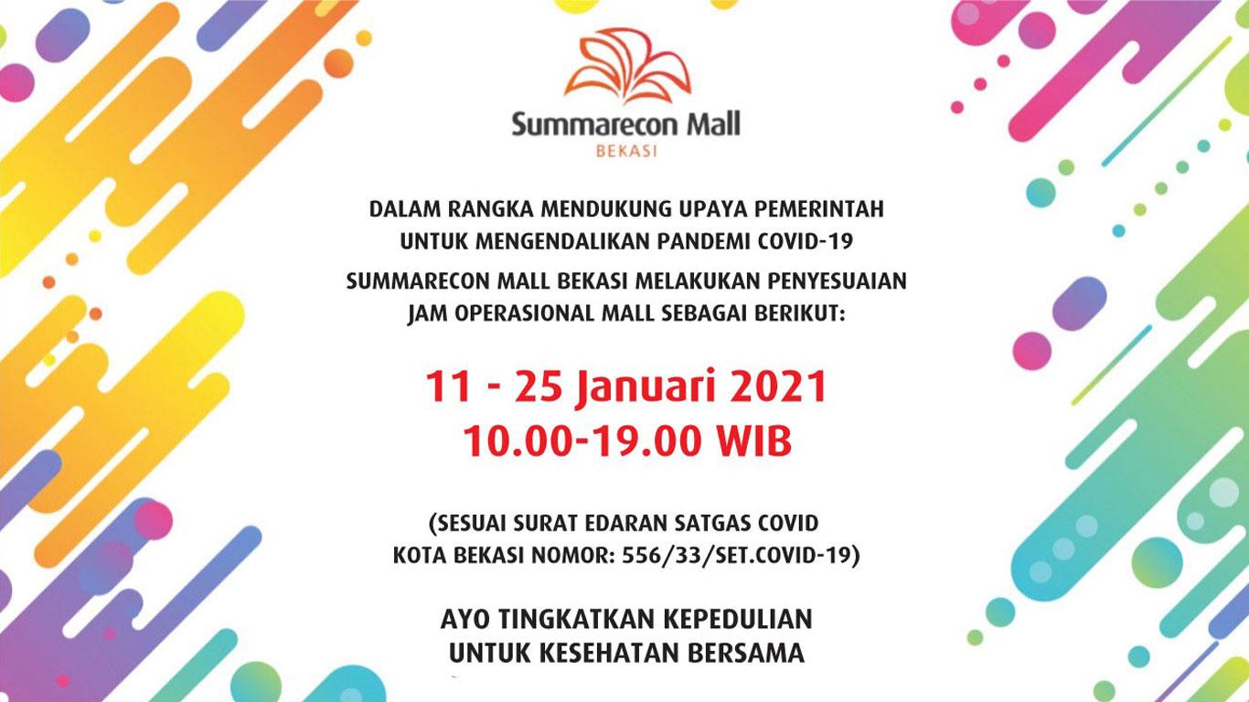 Jam Operasional Mall 11 Jan 21
