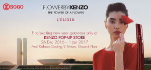 KENZO Pop Up Store 26 Dec - 1 Jan 2017