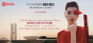 KENZO Pop Up Store 26 Dec - 1 Jan 2017