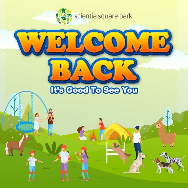 We are very happy to welcoming you back to Scientia Square Park!