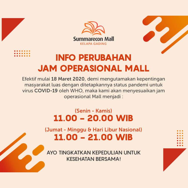 Penyesuaian Jam Operasional & Akses Masuk Mall