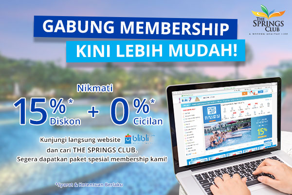 The Springs Club Promo Membership Blibli
