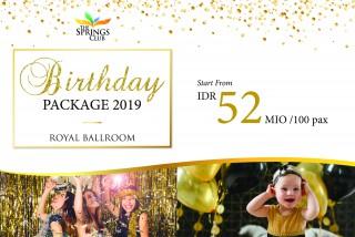 Royal Ballroom Birthday Package