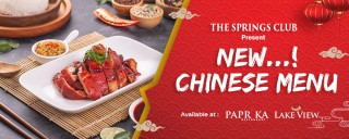 The Springs Club Present New Chinese Menu!