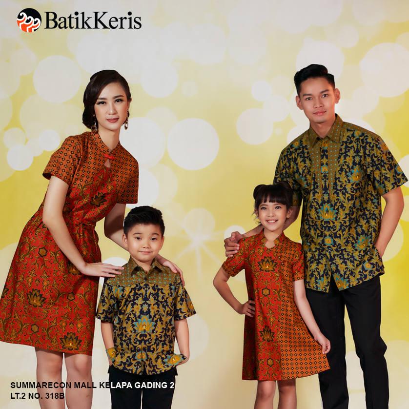 Koleksi Keluarga Imlek Batik Keris