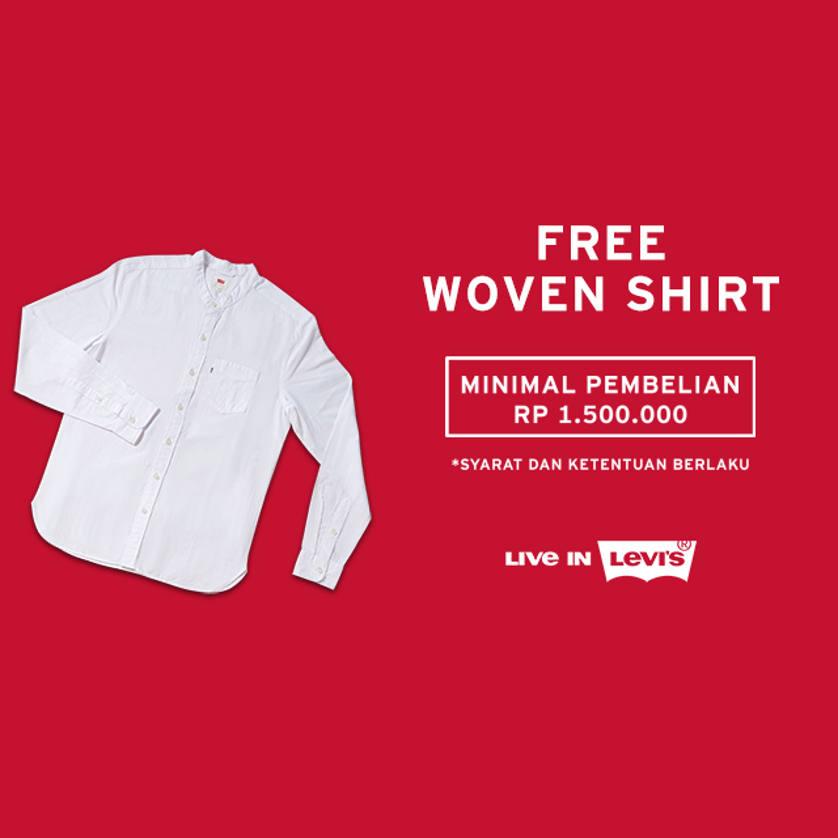FREE Levi`s Woven Shirt