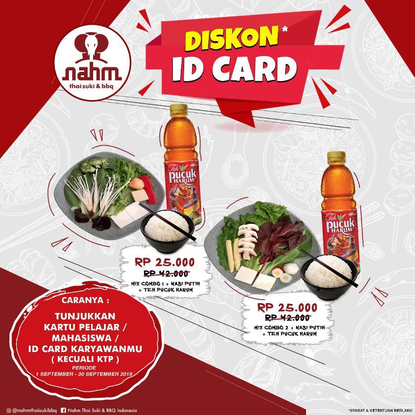 Diskon 50% dan Diskon ID Card