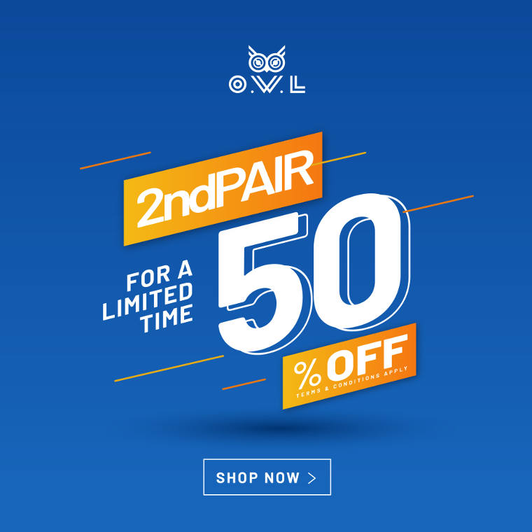 Get 2nd Pairs at 50% Off