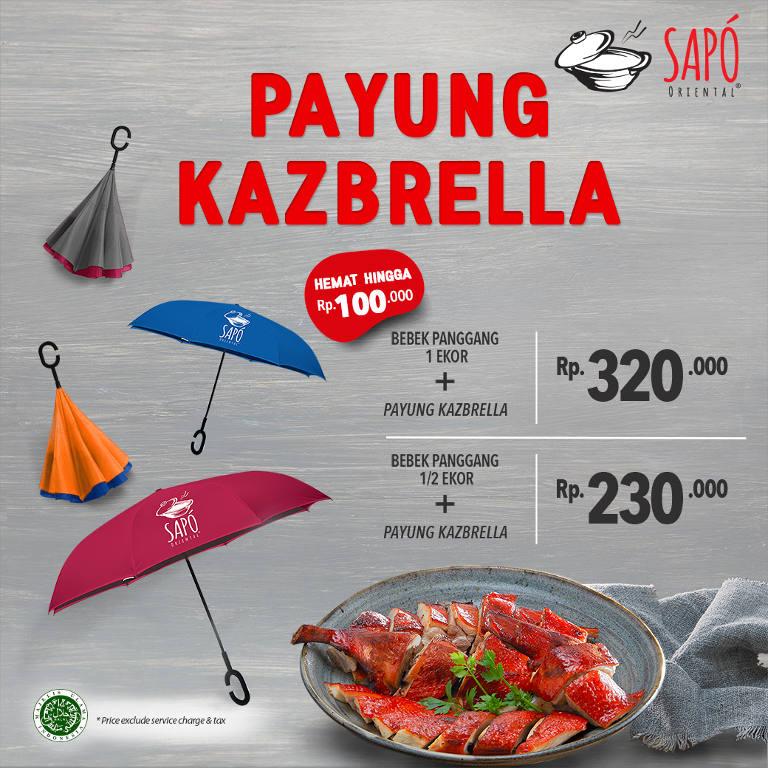 Payung Kazbrella + BEBEK PANGGANG