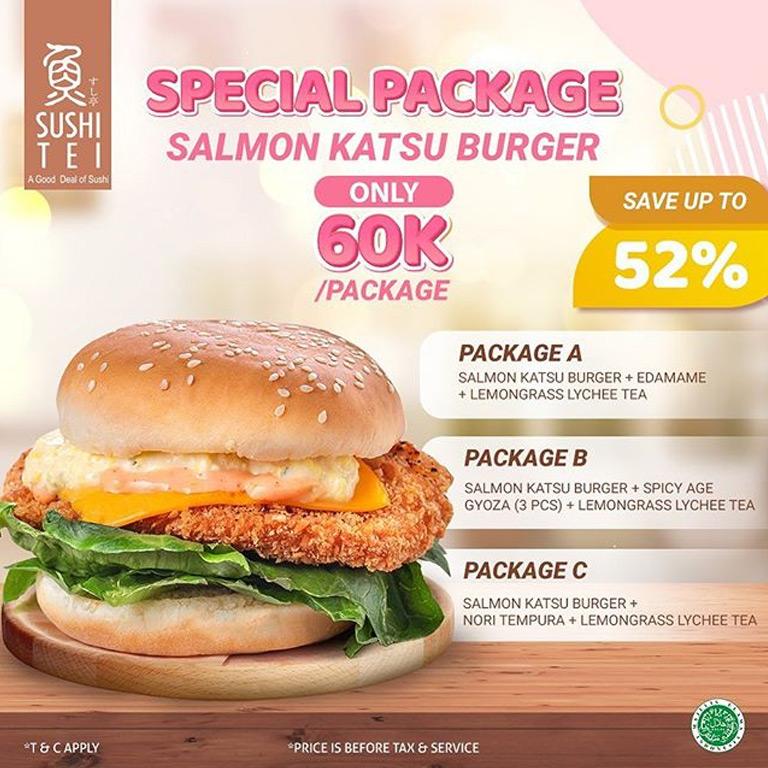 Enjoy Salmon Katsu Burger Package