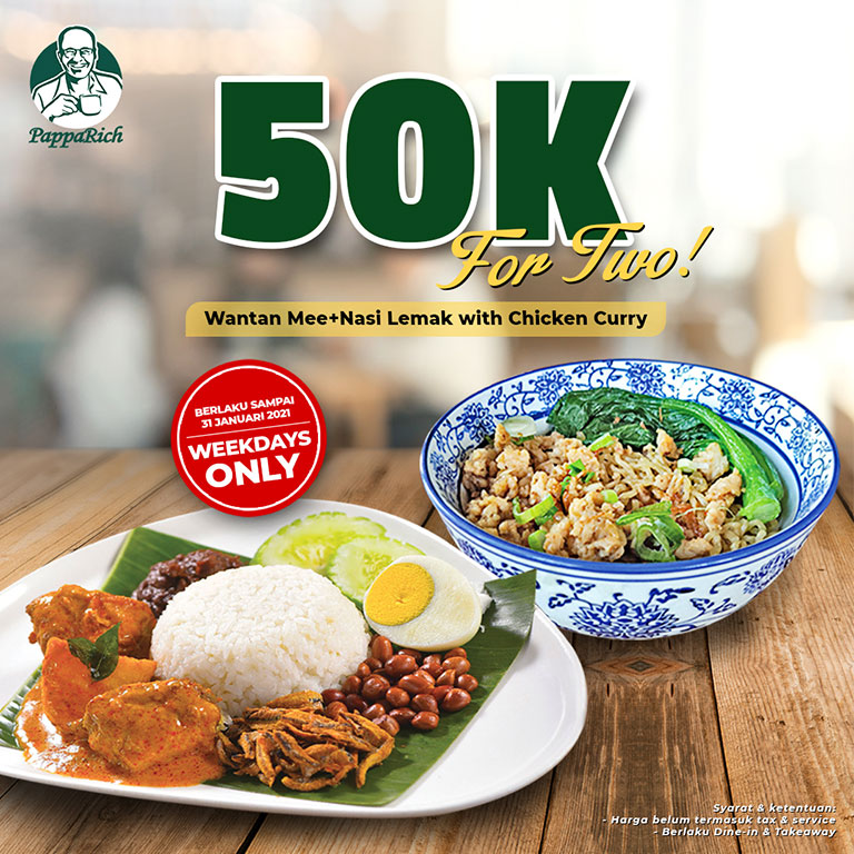 PappaRich 50K for Two!