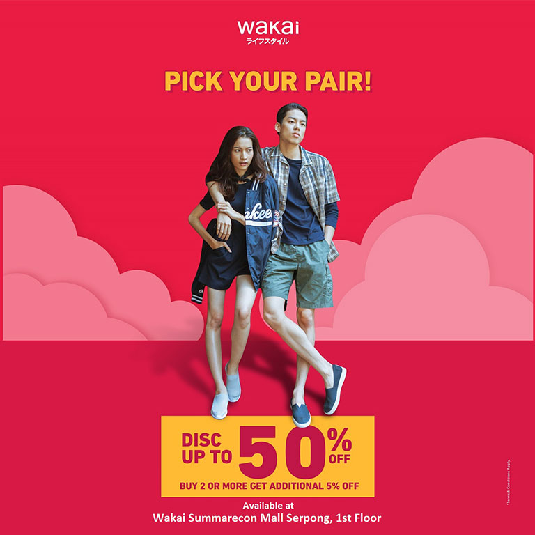 Wakai Wakai Buy 2 or More Get Add 5%