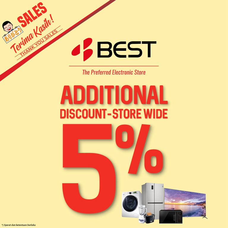 Best Denki ALL PRODUCT DISCOUNT 5%