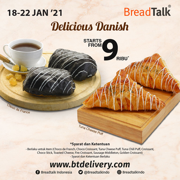 Breadtalk Delicious Danish!!