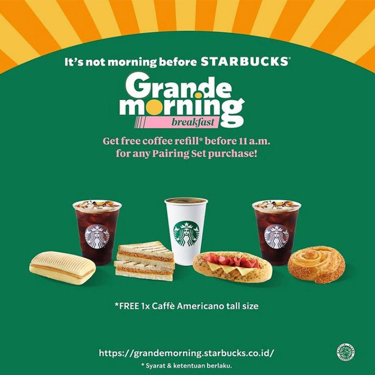 Starbucks Coffee Grande Morning