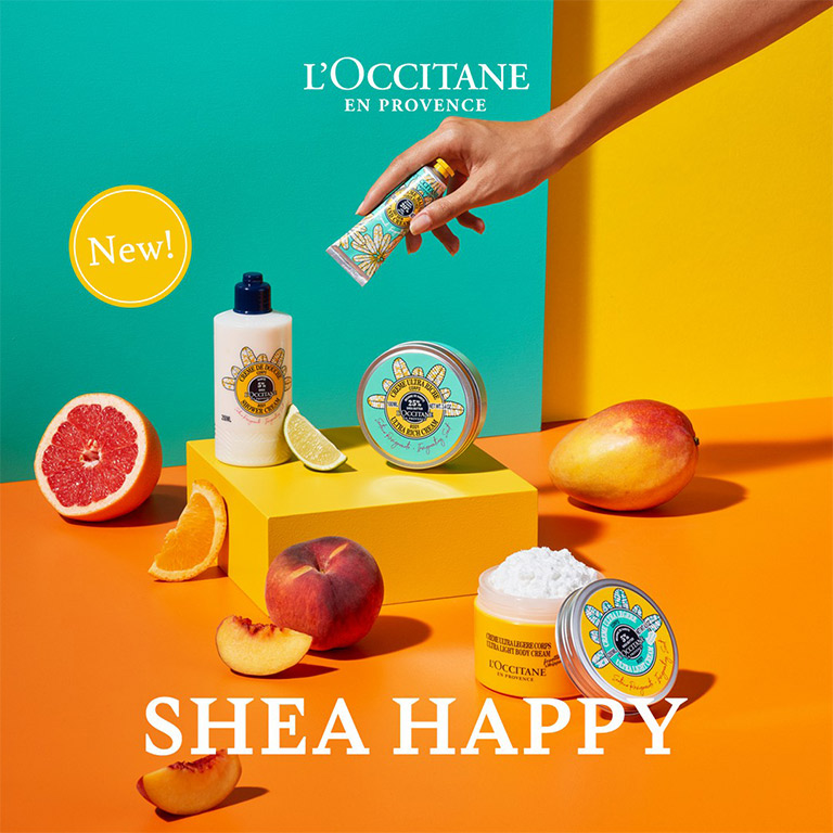 LOCCITANE Shea Happy Body Care Collections