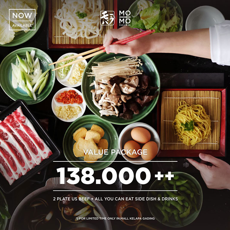 MOMO Paradise ALL YOU CAN EAT FOR 138.000*