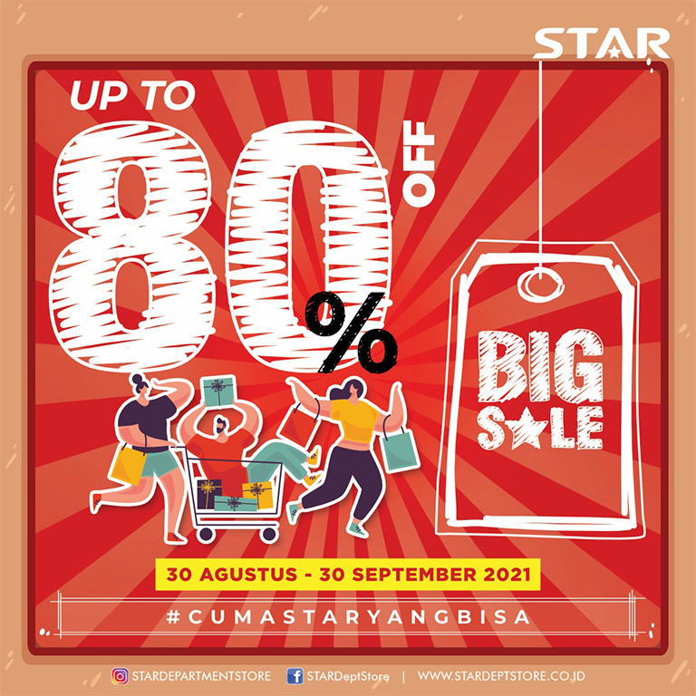STAR Departement Store Discount up to 80%!