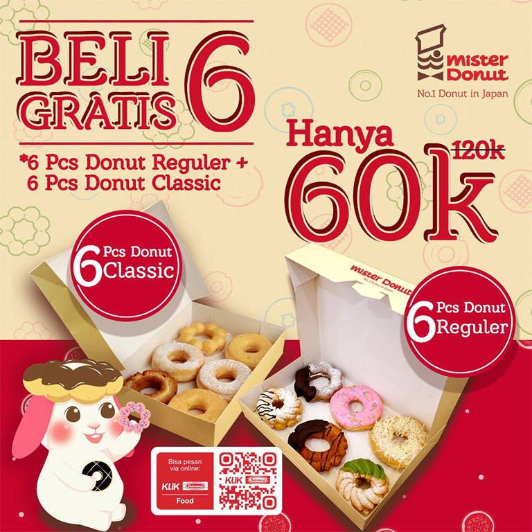 Mister Donut Buy 6 Free 6
