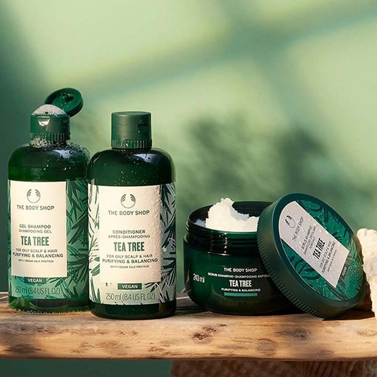 The Body Shop New haircare products