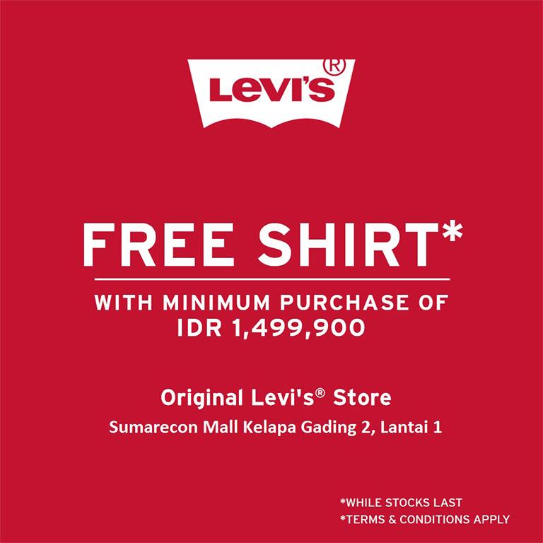 Levi's Get FREE SHIRT