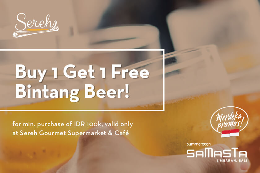 BUY 1 GET 1 FREE BEER at Sereh