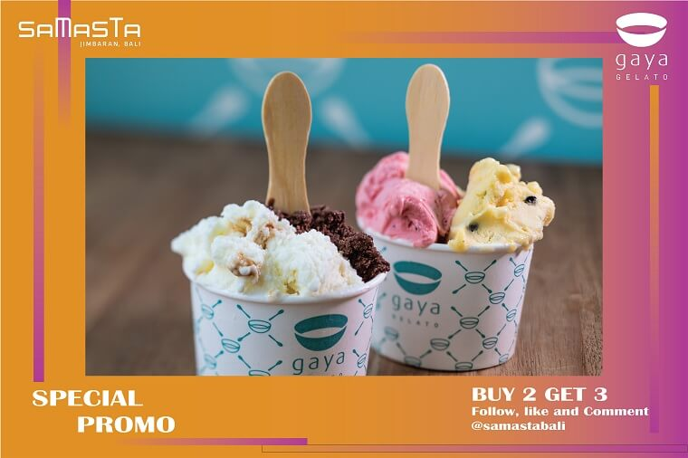 BUY 2 GET 3 GELATOS