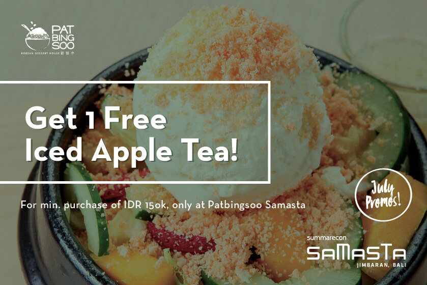 GET 1 FREE ICED APPLE TEA