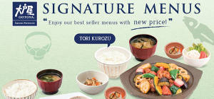 Healthy Authentic Japanese Food from Ootoya Restaurant