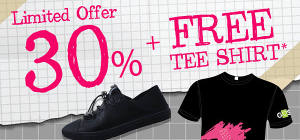 Limited Offer 30% + Free T-Shirt